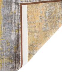 Tapis design vintage Streaks, Jaune, gris, blanc
