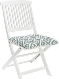 Sitzkissen Miami in Salbeigrün/Weiß, Bezug: 100% Baumwolle, Grün, 40 x 40 cm