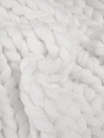 Handgemachte Grobstrick-Kissenhülle Adyna in Weiß, 100% Polyacryl, Weiß, 30 x 50 cm