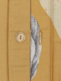 Baumwollsatin-Wendebettwäsche Monkey in Gelb, Webart: Satin Fadendichte 200 TC,, Gelb, 135 x 200 cm + 1 Kissen 80 x 80 cm