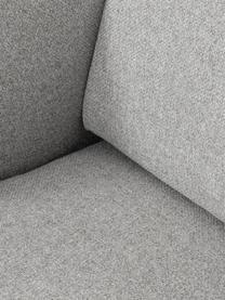 Bank Fluente (2-zits) in lichtgrijs met metalen poten, Bekleding: 80% polyester, 20% ramie, Frame: massief grenenhout, Poten: gepoedercoat metaal, Lichtgrijs, B 166 x D 85 cm