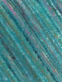 Bunt meliertes Plaid Ayana mit Fransen, 100% Acryl, Türkis, Mehrfarbig, 130 x 190 cm