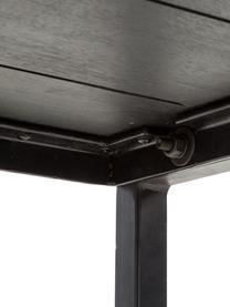 Sitzbank Raw aus massivem Mangoholz, Sitzfläche: Massives Mangoholz, gebür, Gestell: Metall, pulverbeschichtet, Sitzfläche: Mangoholz mit Vintage-LookGestell: Schwarz, 170 x 47 cm