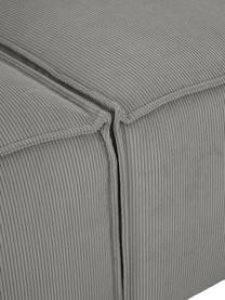 Modulare XL-Ottomane Lennon in Grau aus Cord, Bezug: Cord (92% Polyester, 8% P, Gestell: Massives Kiefernholz, Spe, Füße: Kunststoff Die Füße befin, Cord Grau, B 357 x T 119 cm