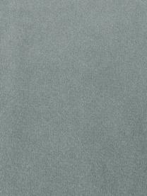 Sofa narożna z aksamitu z nogami z drewna dębowego Saint (3-osobowa), Tapicerka: aksamit (poliester) Dzięk, Aksamitny odcień szałwii, S 243 x G 220 cm