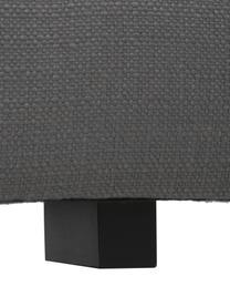 XL hoekbank Tribeca in antraciet, Bekleding: 100% polyester, Frame: massief beukenhout, Poten: massief gelakt beukenhout, Stof antraciet, B 405 x D 228 cm