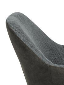 Armlehnstuhl Emilia mit Metallbeinen, Bezug: Polyester, Beine: Metall, lackiert, Webstoff Grau, Beine Schwarz, B 57 x T 59 cm