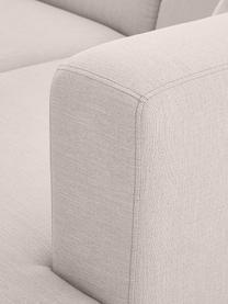 Bank Carrie (3-zits) in lichtgrijs met metalen poten, Bekleding: polyester, Frame: spaanplaat, hardboard, mu, Poten: gelakt metaal, Geweven stof lichtgrijs, B 202 x D 86 cm