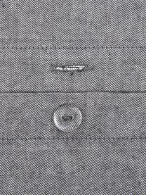 Bettwäsche Cashmere in Grau, Grau, 135 x 200 cm + 1 Kissen 80 x 80 cm