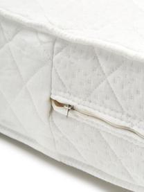Tonnentaschenfederkern-Matratze Happy, Bezug: Doppeljersey (100% Polyes, Oberseite: ca. 200 g/m² klimaregulie, Unterseite: ca. 200 g/m² klimaregulie, Weiß, 140 x 200 cm