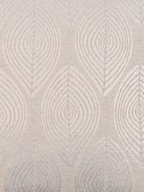 Federa arredo beige con motivo lucido Dulce, 78% poliestere, 22% cotone, Beige, Larg. 40 x Lung. 40 cm
