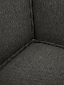 Modulare Ottomane Lennon in Anthrazit, Bezug: Polyester Der hochwertige, Gestell: Massives Kiefernholz, Spe, Füße: Kunststoff, Webstoff Anthrazit, B 269 x T 119 cm