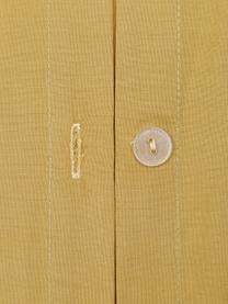 Baumwollperkal-Bettwäsche Bommy mit Pompoms, Webart: Perkal Fadendichte 200 TC, Senfgelb, 135 x 200 cm + 1 Kissen 80 x 80 cm