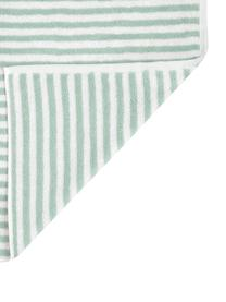 Gestreiftes Handtuch-Set Viola, 3-tlg., Mintgrün, Cremeweiß, Sondergrößen