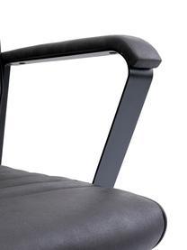 Kunstleren bureaustoel Labora, Bekleding: kunstleer, Zitvlak: massief, natuurlijk popul, Zwart, 57 x 105 cm
