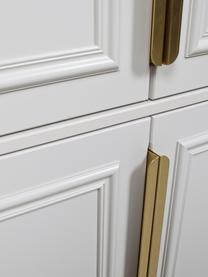 Kleiderschrank Organize mit Kleiderstange in Grauweiß, Korpus: Kiefernholz, lackiert, Griffe: Metall, beschichtet, Grau, Weiß, 110 x 215 cm