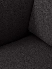 Ottomane Fluente in Dunkelgrau mit Metall-Füßen, Bezug: 100% Polyester Der hochwe, Gestell: Massives Kiefernholz, Füße: Metall, pulverbeschichtet, Webstoff Dunkelgrau, B 202 x T 85 cm
