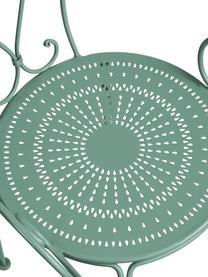 Garten-Armlehnstuhl Century aus Metall, Metall, pulverbeschichtet, wetterfest und unempfindlich Gummistutzen an den Füßen für rutschfesten Halt und zusätzlichen Kratzerschutz bei empfindlichen Böden, Salbeigrün, B 53 x T 49 cm