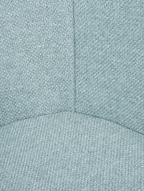 Silla con reposabrazos Fiji, Tapizado: poliéster 40.000ciclos e, Patas: madera de roble maciza, Tejido azul claro, patas roble, An 59 x F 55 cm