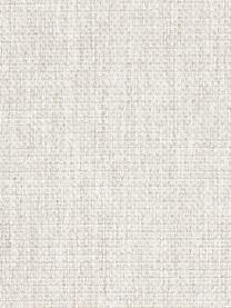 Canapé 3 places crème Emma, Tissu blanc crème, pieds noirs