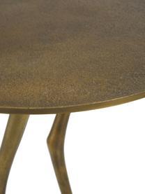 Mesa auxiliar decorativa Duck, Metal, latón, pintado, Dorado, Ø 35 x Al 45 cm