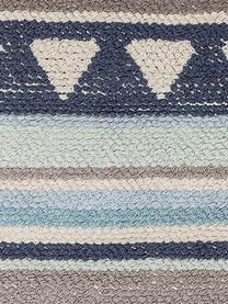 Dywan Nagou, Bawełna, Odcienie niebieskiego, szary, beżowy, S 60 x D 90 cm