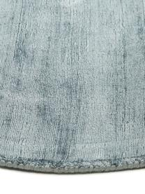 Tapis rond tissé à la glace bleu de glace Jane, Bleu de glace
