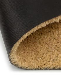 Fußmatte Dachshund, Oberseite: Kokosfaser, Unterseite: PVC, Beige, Schwarz, 40 x 60 cm