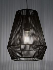 Lampada a sospensione in metallo Hadi, Baldacchino: metallo verniciato a polv, Paralume: metallo verniciato a polv, Nero, Ø 30 x Alt. 38 cm