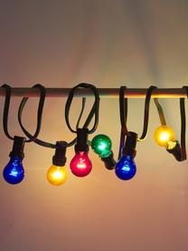 LED lichtslinger Jubile, 620 cm, 10 lampions, Lampions: kunststof, Rood, blauw, groen, geel, L 620 cm