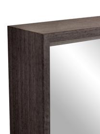 Eckiger Wandspiegel Nerina mit braunem Holzrahmen, Rahmen: Holz, Spiegelfläche: Spiegelglas, Braun , 52 x 152 cm