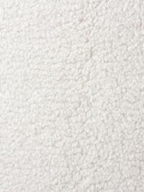 Divano 3 posti in tessuto teddy bianco crema Fluente, Rivestimento: 100% poliestere (tessuto , Rivestimento: schiuma con molle No-Sag, Struttura: legno di pino massiccio, Piedini: metallo verniciato a polv, Tessuto Teddy bianco crema, Larg. 196 x Prof. 85 cm