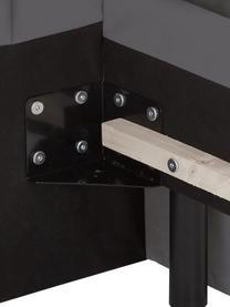Gestoffeerd bed Dusk, Frame: massief grenenhout, Bekleding: polyester (structuurmater, Geweven stof donkergrijs, 200 x 200 cm