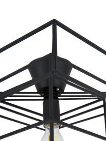 Deckenleuchte Cube in Schwarz, Messing, lackiert, Schwarz, 46 x 27 cm