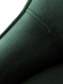Chaise velours rembourré moderneAva, Velours vert foncé