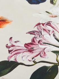 Dubbelzijdige katoensatijnen dekbedovertrek Filou, Zandkleurig, multicolour, 240 x 220 cm