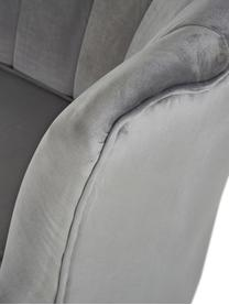 Sofa z aksamitu z metalowymi nogami Oyster (2-osobowa), Tapicerka: aksamit (poliester) 20 00, Stelaż: lite drewno topoli, sklej, Nogi: metal galwanizowany, Aksamitny szary, S 131 x G 78 cm