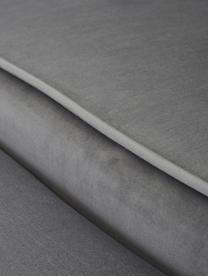 Samt-Sofa Oyster (2-Sitzer) in Grau mit Metall-Füßen, Bezug: Samt (Polyester) 20.000 S, Gestell: Massives Pappelholz, Sper, Füße: Metall, galvanisiert, Samt Grau, B 131 x T 78 cm