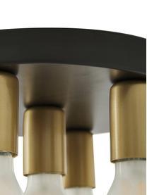 Kleine Deckenleuchte Plate in Gold-Schwarz, Baldachin: Nickel, lackiert, Schwarz, Goldfarben, Ø 30 x H 9 cm