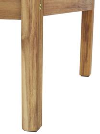 Garten-Loungesessel Vie mit Wiener Geflecht, Bezug: 100% Polyester Der hochwe, Gestell: Massives Akazienholz, geö, Wiener Geflecht: Polyethylen, Beige, B 68 x T 78 cm