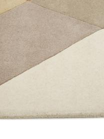 Tappeto di design taftato a mano  Freya, Retro: lana, Giallo senape, beige, grigio, marrone, Larg. 200 x Lung. 300 cm (taglia L)