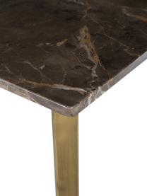 Consolle in marmo con struttura in ottone Emperor, Struttura: ottone, Mensola: marmo, Ottone, marrone scuro, beige, Larg. 110 x Prof. 40 cm