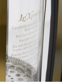 Kaffeezubereiter Le'Xpress in Gold/Transparent, Borosilikatglas, Metall, beschichtet, Transparent, Messingfarben, 1 l