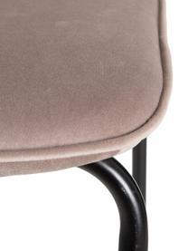 Krzesło tapicerowane Ina, Tapicerka: poliester, Stelaż: metal lakierowany, Beżowy, S 55 x G 46 cm