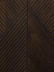 Komoda z litego drewna mangowego z drzwiczkami Louis, Lite drewno mangowe, lakierowane, Drewno mangowe, lakierowane, S 177 x W 75 cm