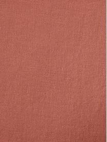 Set lenzuola in lino soffice lavato Nature, Mezzo lino (52% lino, 48% cotone) Numero di fili 108 TC, qualità standard Il mezzo lino ha un'sensazione naturale e un naturale aspetto sgualcito, che viene esaltato dall'effetto stonewash. Assorbe fino al 35% di umidità, si asciuga molto rapidamente e ha un effetto piacevolmente rinfrescante nelle notti d'estate. L'elevata resistenza allo strappo rende il mezzo lino resistente all'abrasione e all'usura., Terracotta, 240 x 300 cm + 2 cuscini 50 x 80 cm