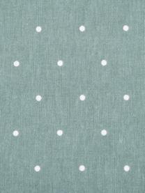 Flanell-Wendebettwäsche Betty, gepunktet, Webart: Flanell Flanell ist ein k, Salbeigrün, Weiß, 240 x 220 cm + 2 Kissen 80 x 80 cm