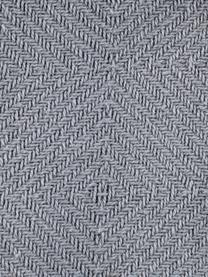 Pled z pomponami Sorbet, Bawełna, Jasny szary, S 130 x D 170 cm
