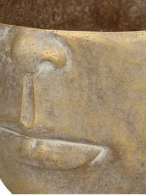 Portavaso in cemento Golden Face, Cemento, Dorato con  finitura antica, Larg. 23 x Alt. 14 cm