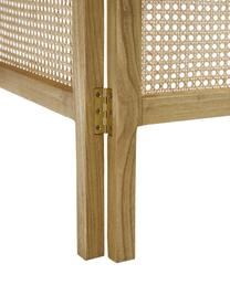 Paravento con intreccio viennese Webbing, Cornice: legno Sungkai, Intreccio viennese: canna da zucchero, Legno di Sungkai, Larg. 150 x Alt. 180 cm